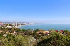 Seascape at Hua Hin beach Stock Photo