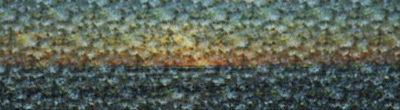 Seascape i abstrakt begrepp Arkivfoton