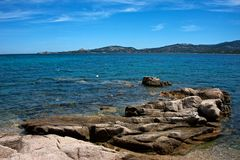 Seascape i Cannigione Royaltyfri Bild