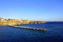 Seascape i det Aegean havet Royaltyfri Foto