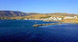 Seascape i det Aegean havet Royaltyfria Foton