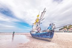 Seascape i Huahin, Royaltyfri Bild