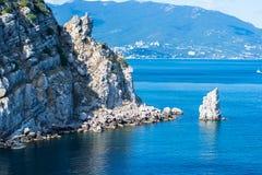 Seascape i Krimet Arkivfoto