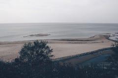 Seascape i Lettland Arkivfoto