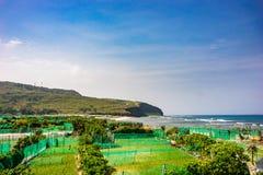 Seascape i Ly-sonön, Quang Ngai, Vietnam Arkivbild