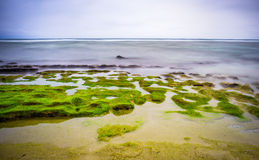 Seascape i Ly-sonön, Quang Ngai, Vietnam Arkivbilder