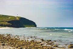 Seascape i Ly-sonön, Quang Ngai, Vietnam Royaltyfri Fotografi