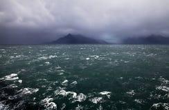 Seascape i Patagonia, Chile Royaltyfri Foto