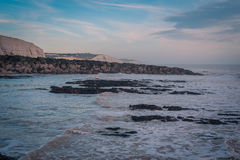 Seascape i söderna av England, Rottingdean strand Royaltyfria Foton
