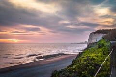 Seascape i söderna av England, Rottingdean strand Arkivfoto