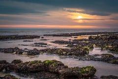 Seascape i söderna av England, Rottingdean strand Fotografering för Bildbyråer