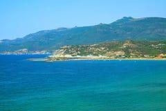 Seascape i Sardinia Royaltyfria Foton
