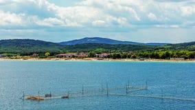 Seascape i Sozopol Arkivbild