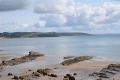 SEASCAPE i västra Wales Pembrokeshire royaltyfria foton