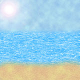 Seascape illustration. Stock Images