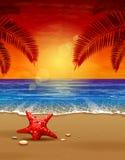 Seascape  illustration Stock Photography