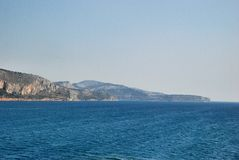 Seascape of island Corfu. Corfu is a Greek island in the Ionian Sea Stock Images