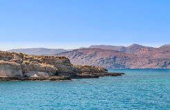 Seascape of the island crete greece. View on the island crete greece Royalty Free Stock Photography