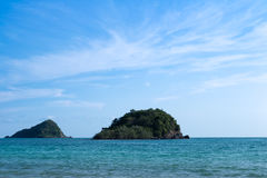 Seascape with island. Nang Rum Beach, Thailand.  Stock Photography