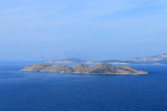 Seascape with islands at the Aegean Sea on a sunny day Royalty Free Stock Image
