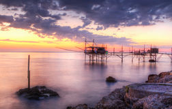 Seascape: Itália, Abruzzo, S Vito Chietino, costela d foto de stock royalty free