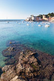 Seascape in a italian small harbour. Stock Photography