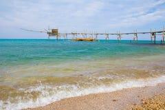 Seascape: Italien Abruzzo, Costadei Trabocchi Royaltyfria Foton