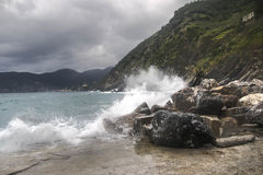 Seascape of Italy Liguria coast travel Stock Photography