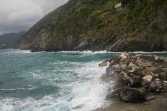 Seascape of Italy Liguria coast travel Royalty Free Stock Image