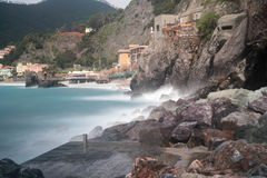 Seascape of Italy Liguria coast travel Stock Images