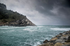 Seascape of Italy Liguria coast travel Stock Photography
