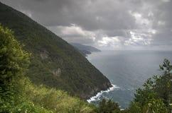 Seascape of Italy Liguria coast travel Royalty Free Stock Photo