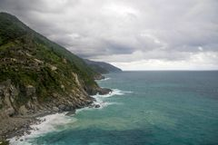 Seascape of Italy Liguria coast travel Royalty Free Stock Photos