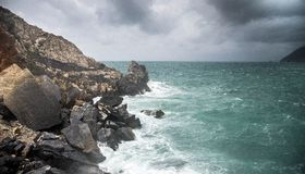 Seascape of Italy Liguria coast travel Stock Photo