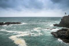 Seascape of Italy Liguria coast travel Stock Photos