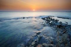 Seascape of Khao Lak at sunset, Phangnga, Thailand. Royalty Free Stock Photos