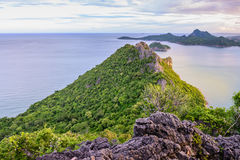 Seascape of Khao Lom Muak mountain at Prachuap Khiri Khan, Thailand Royalty Free Stock Image