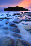 Seascape of Klong muang beach at sunset, Krabi, Thailand Royalty Free Stock Image