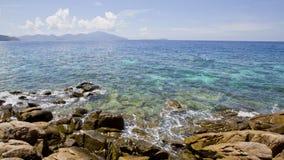 Seascape με το μικρό νησί, Koh Lipe, Ταϊλάνδη Στοκ εικόνα με δικαίωμα ελεύθερης χρήσης