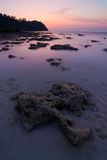 Seascape of Koh Rok island at sunrise, Krabi, Thai. Land Stock Image