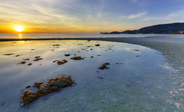 Seascape of Koh Samui island at sunset, Thailand Royalty Free Stock Image