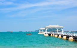 Seascape at koh srichang Stock Photo