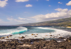 Seascape at la Pointe au Sel, la Reunion island Stock Images