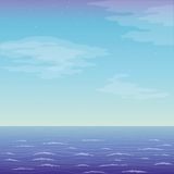 Landscape, sea and sky vector illustration
