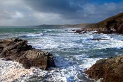 Seascape / Landscape of ocean surf, Cornwall. Stock Photos