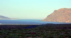 Seascape from Lanzarote. Caleta de Famara beach.Canary Island. Spain. Stock Image