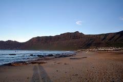 Seascape from Lanzarote. Caleta de Famara beach.Canary Island. Spain. Royalty Free Stock Photo
