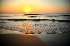 Seascape at last moments of the day Royalty Free Stock Images