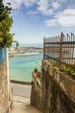 Seascape in Lastres, sailor coastal village in Asturias Stock Photo