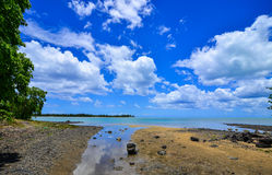 Seascape in Le Morne, Mauritius. Mauritius is a small, multi-cultural island in the Indian Ocean Stock Photo